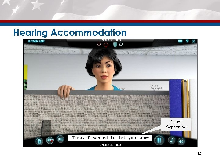 Hearing Accommodation Closed Captioning 12
