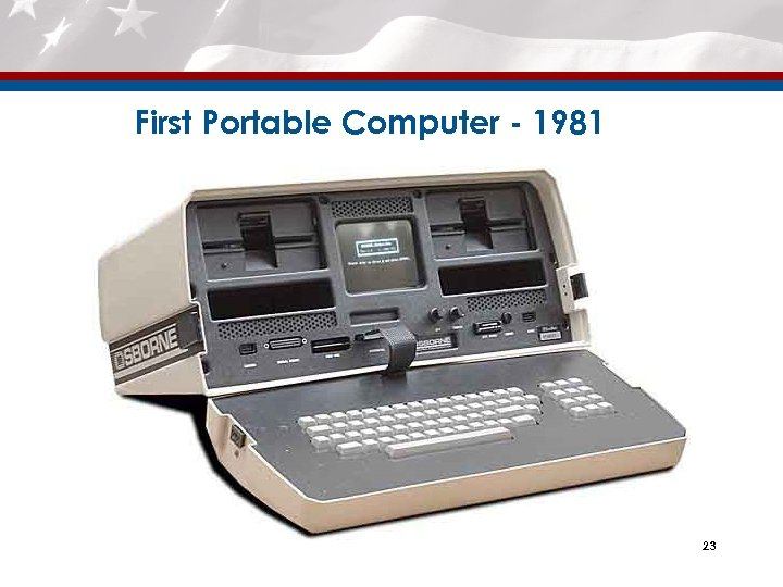 First Portable Computer - 1981 23