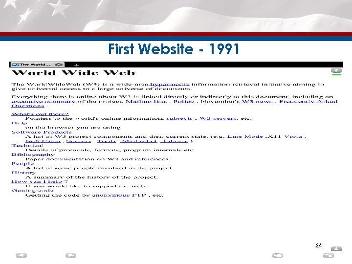 First Website - 1991 24