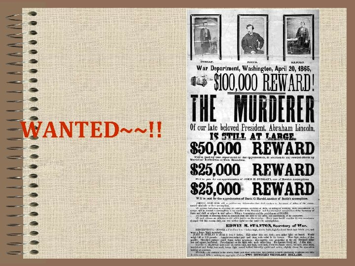 WANTED~~!!