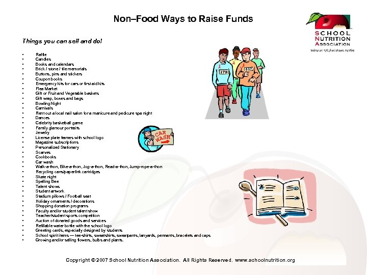 Non–Food Ways to Raise Funds Things you can sell and do! • • •