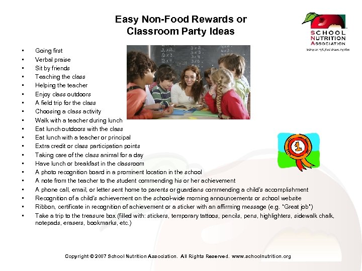 Easy Non-Food Rewards or Classroom Party Ideas • • • • • Going first