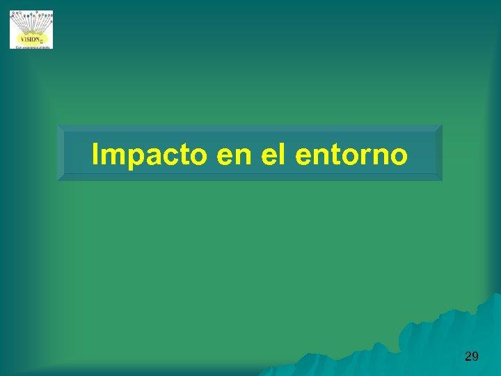 Impacto en el entorno 29