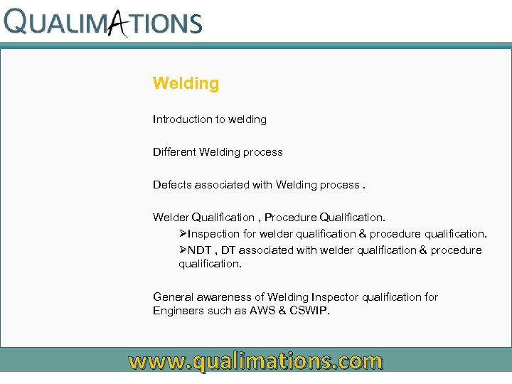 S Welding Introduction to welding Different Welding process Defects associated with Welding process. Welder