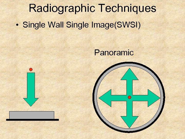Radiographic Techniques • Single Wall Single Image(SWSI) Panoramic