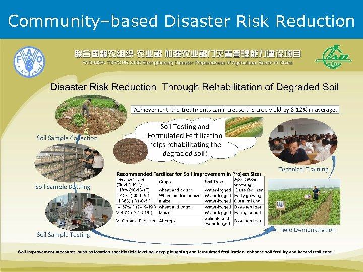 Community–based Disaster Risk Reduction