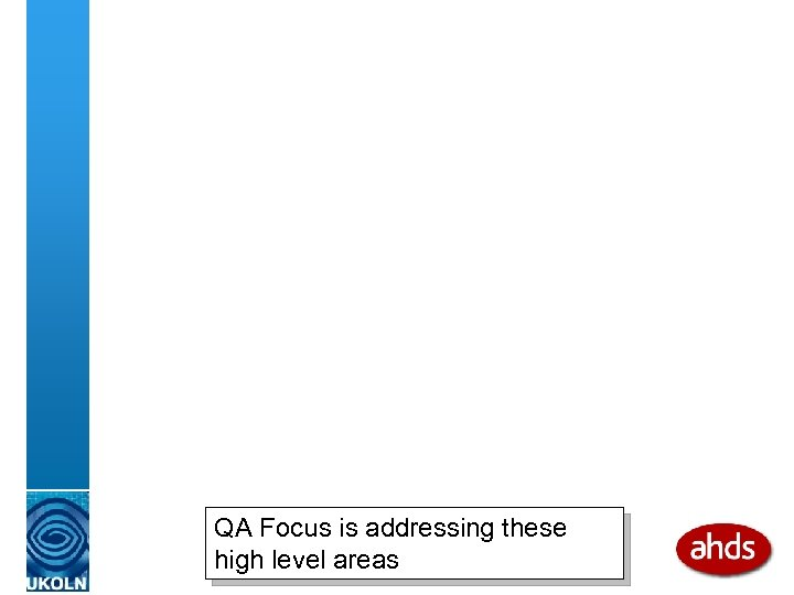 QA Focus is addressing these high level areas