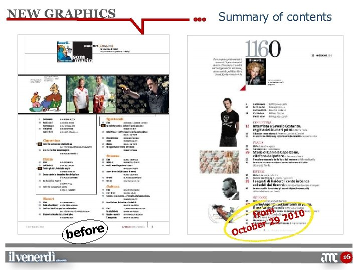 NEW GRAPHICS e befor Summary of contents O from 2010 9 er 2 ctob