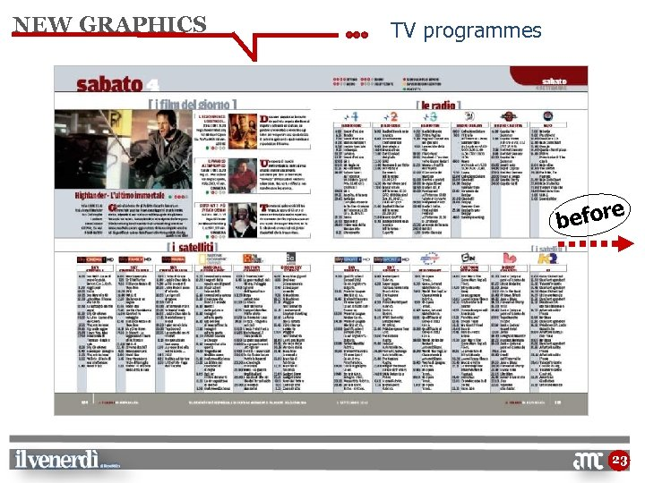 NEW GRAPHICS TV programmes e befor 23