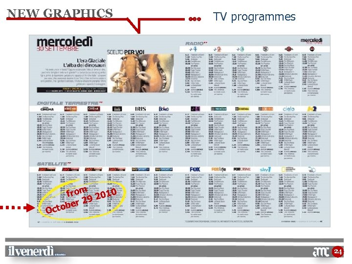NEW GRAPHICS TV programmes from 2010 29 ber Octo 24