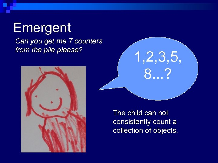 Emergent Can you get me 7 counters from the pile please? Movie Clip 1,