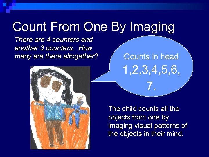 Count From One By Imaging There are 4 counters and another 3 counters. How