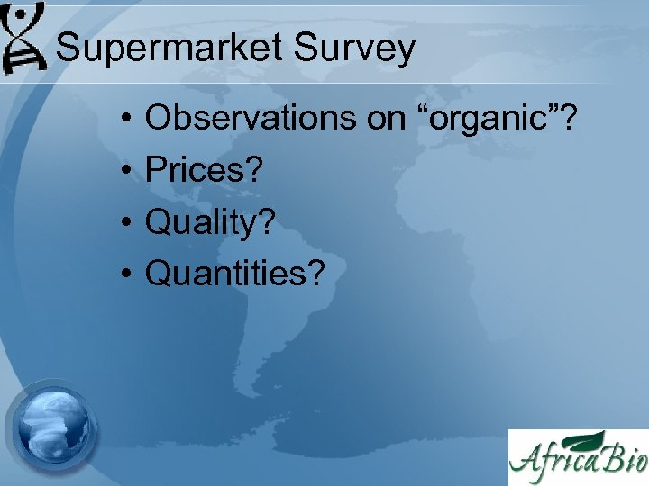 """Supermarket Survey • • Observations on """"organic""""? Prices? Quality? Quantities?"""