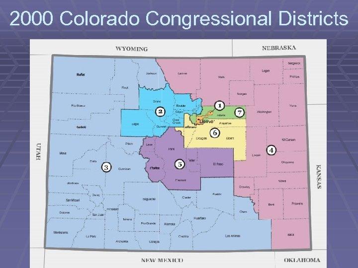 2000 Colorado Congressional Districts