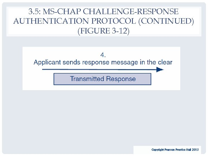 3. 5: MS-CHAP CHALLENGE-RESPONSE AUTHENTICATION PROTOCOL (CONTINUED) (FIGURE 3 -12) 35 Copyright Pearson Prentice