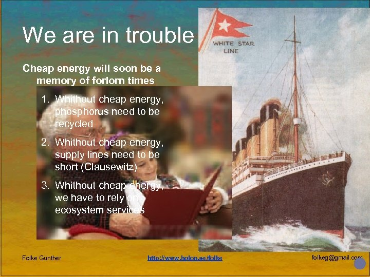 We are in trouble Cheap energy will soon be a memory of forlorn times