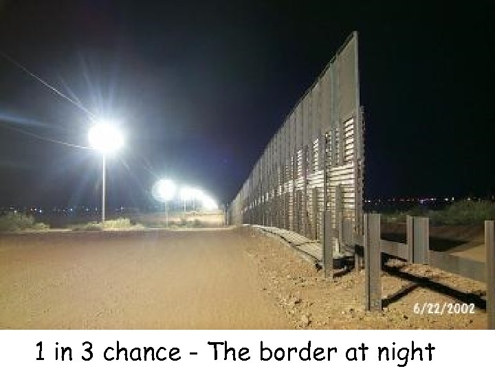 1 in 3 chance - The border at night