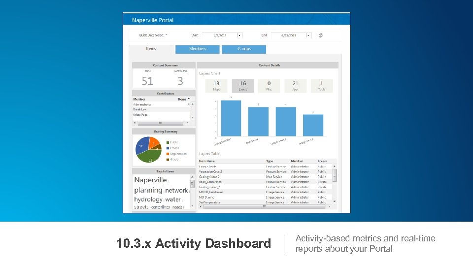 10. 3. x Activity Dashboard Activity-based metrics and real-time reports about your Portal