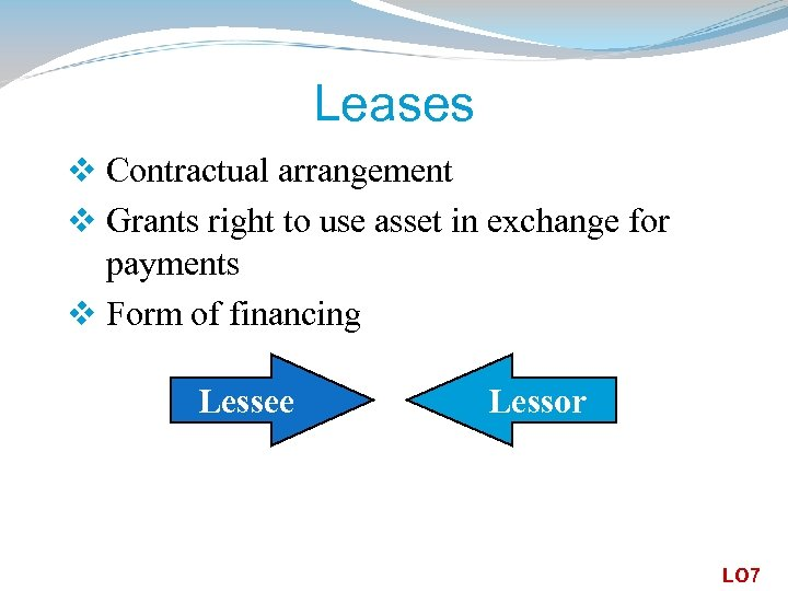 Leases v Contractual arrangement v Grants right to use asset in exchange for payments