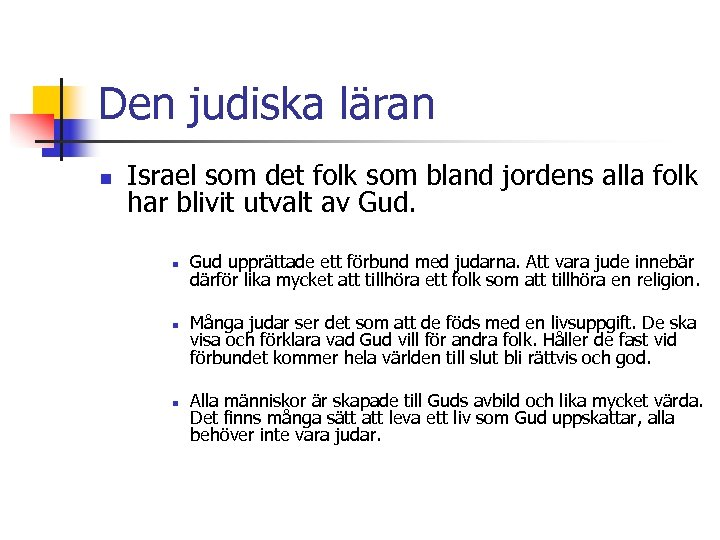 Den judiska läran n Israel som det folk som bland jordens alla folk har