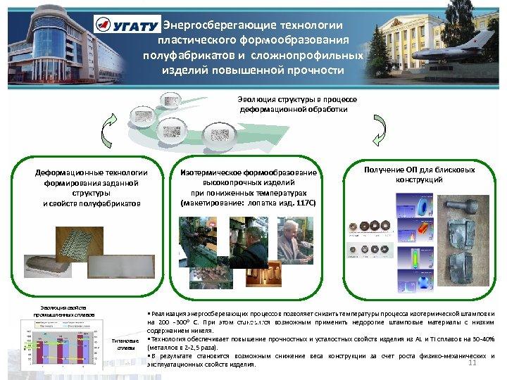 Энергосберегающие технологии пластического формообразования полуфабрикатов и сложнопрофильных изделий повышенной прочности Эволюция структуры в процессе