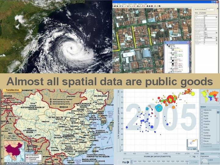 Almost all spatial data are public goods