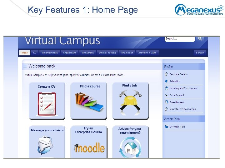 Key Features 1: Home Page