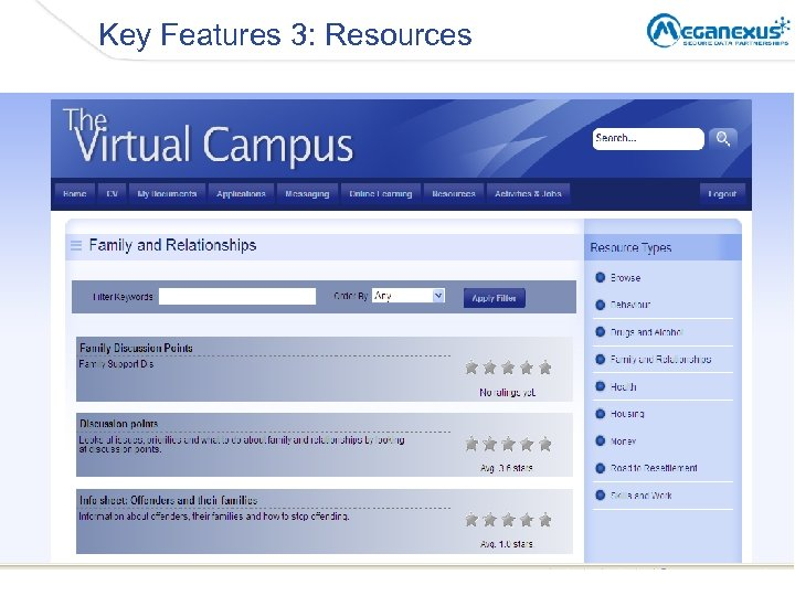 Key Features 3: Resources