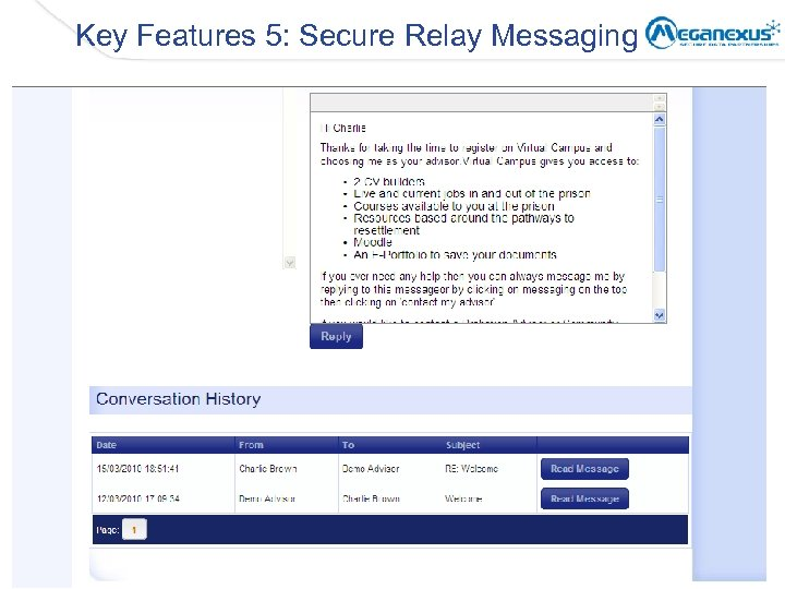 Key Features 5: Secure Relay Messaging