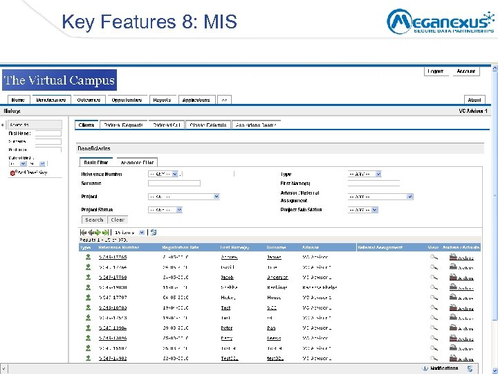 Key Features 8: MIS