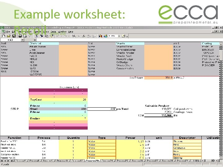 Example worksheet: Recoil (proc 20)