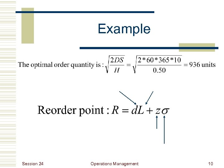 Example Session 24 Operations Management 10