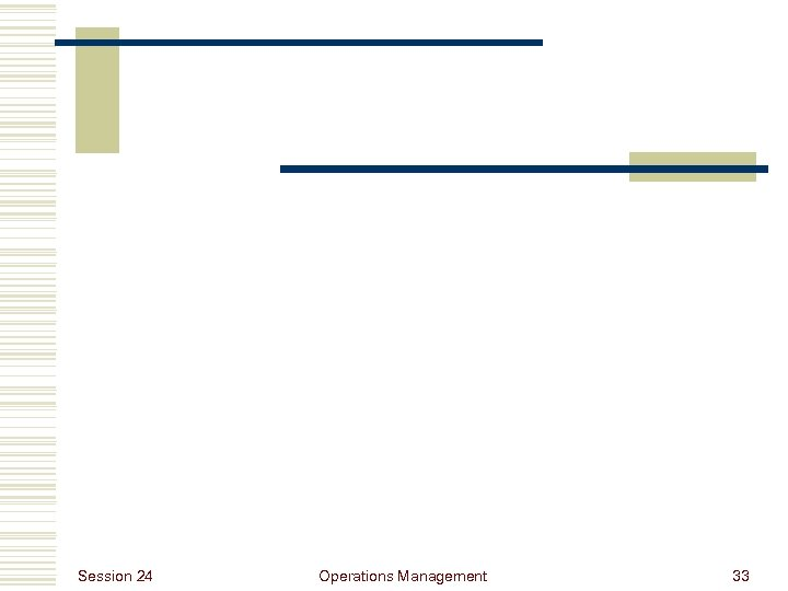 Session 24 Operations Management 33