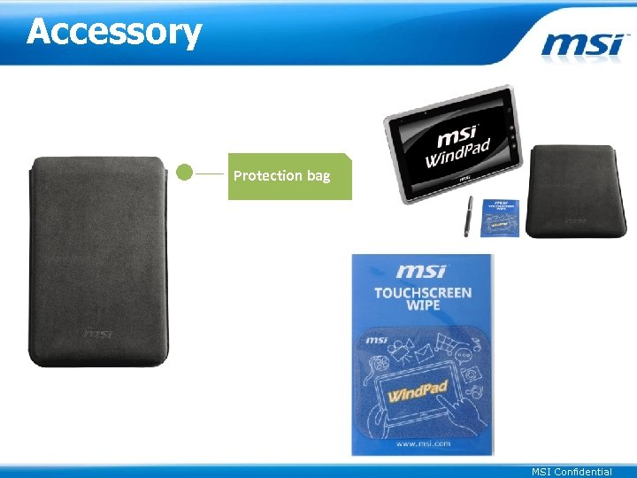 Accessory Protection bag MSI Confidential