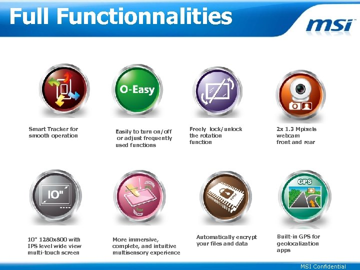 """Full Functionnalities Smart Tracker for smooth operation 10"""" 1280 x 800 with IPS level"""