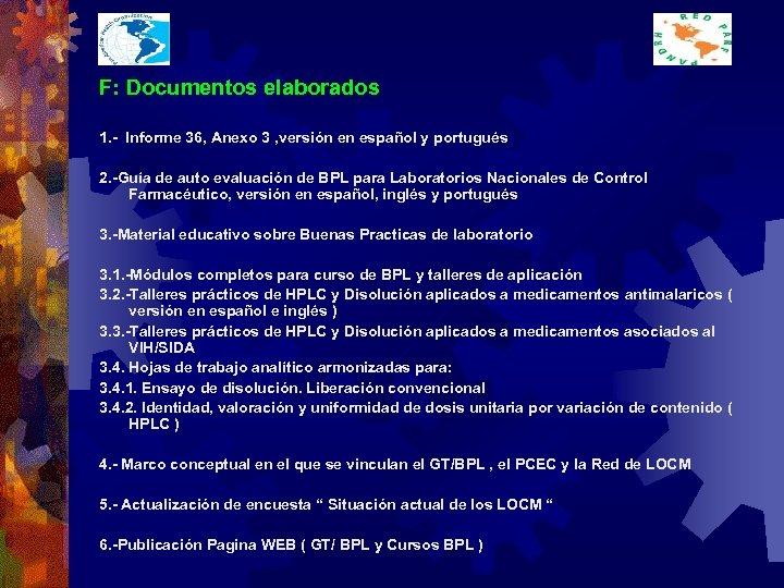 F: Documentos elaborados 1. - Informe 36, Anexo 3 , versión en español y