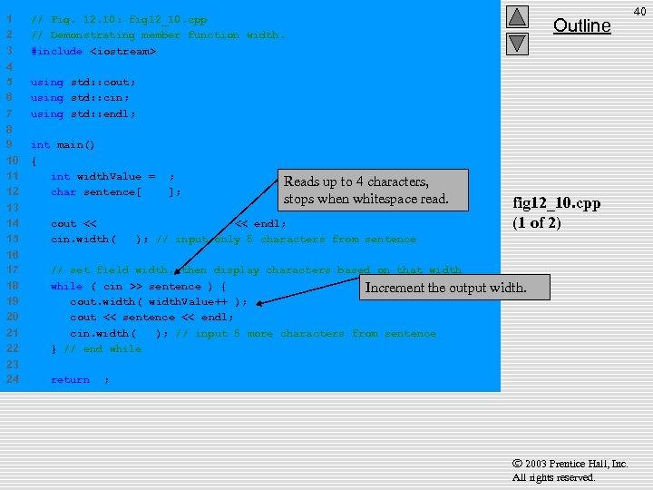 1 2 3 // Fig. 12. 10: fig 12_10. cpp // Demonstrating member function