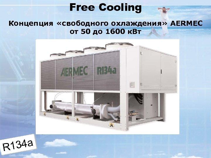Free Cooling Концепция «свободного охлаждения» AERMEC от 50 до 1600 к. Вт 134 a