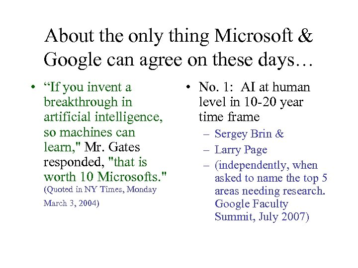 """About the only thing Microsoft & Google can agree on these days… • """"If"""
