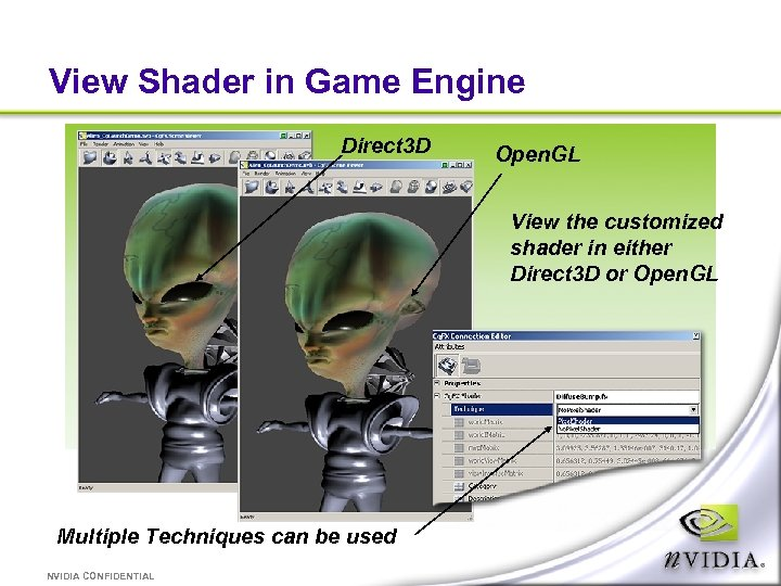 View Shader in Game Engine Direct 3 D Open. GL View the customized shader