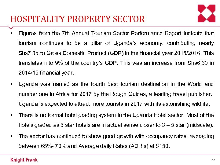 HOSPITALITY PROPERTY SECTOR • Figures from the 7 th Annual Tourism Sector Performance Report