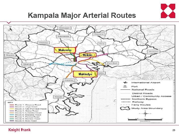 Kampala Major Arterial Routes Makerere Kololo Makindye 23