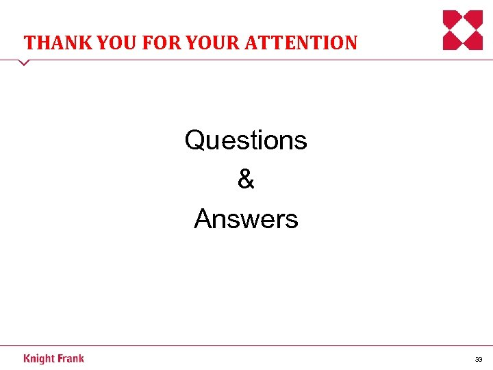 THANK YOU FOR YOUR ATTENTION Questions & Answers 33