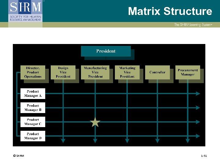 Matrix Structure © SHRM 1 -51