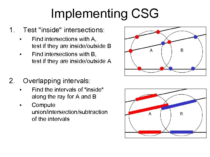 Implementing CSG 1. Test