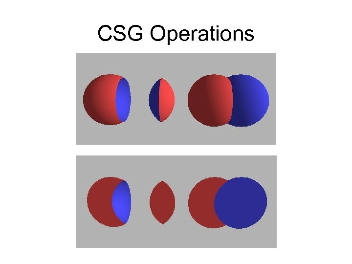 CSG Operations
