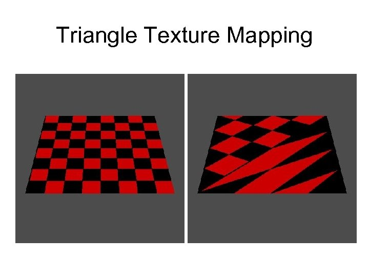 Triangle Texture Mapping