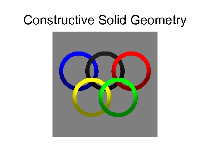 Constructive Solid Geometry