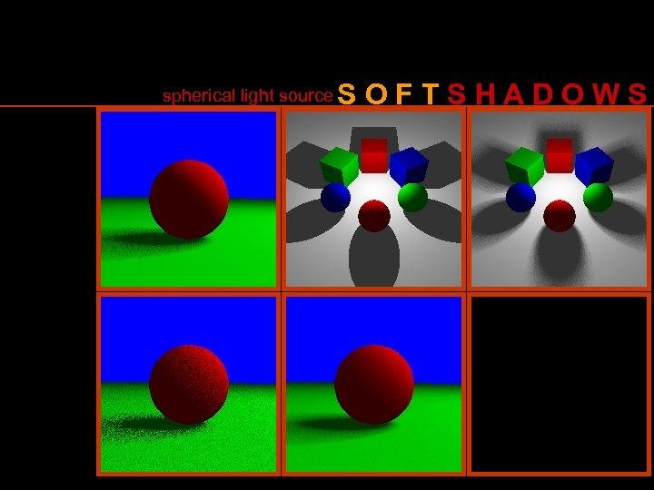 spherical light source SOFTSHADOWS