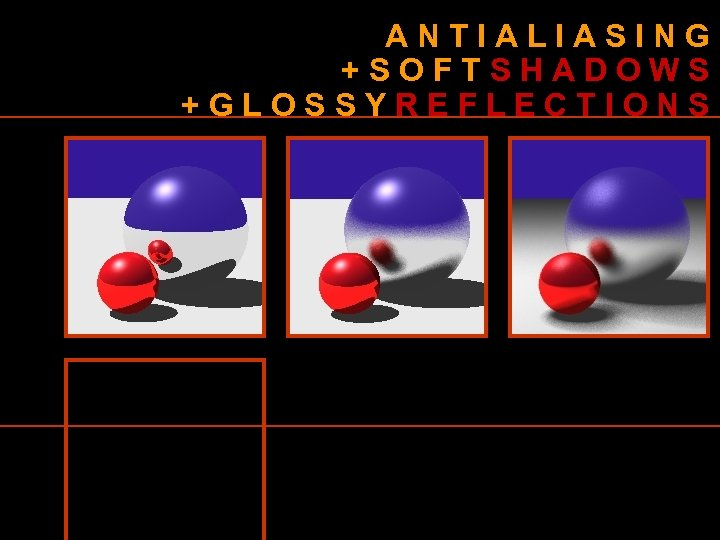 ANTIALIASING +SOFTSHADOWS +GLOSSYREFLECTIONS